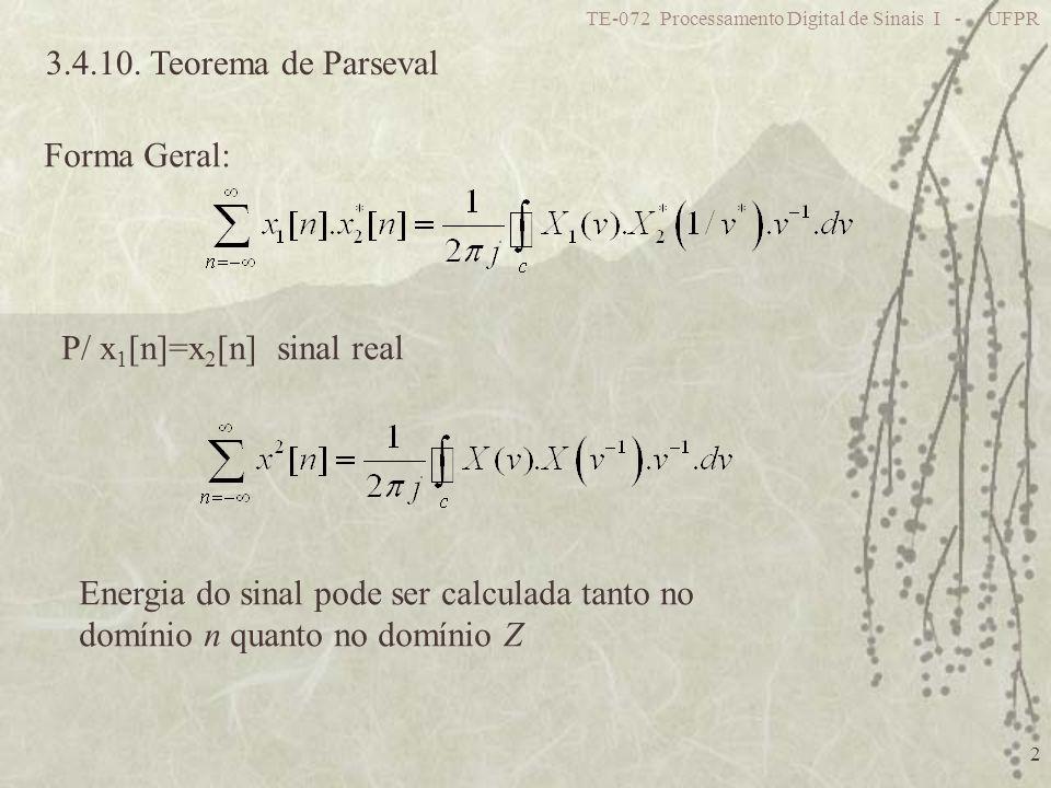 P/ x1[n]=x2[n] sinal real